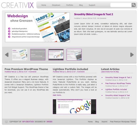 WordPress WP-Creativix 固定ページのコメント欄を表示しない(非表示にする)