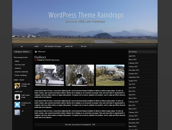 WordPress raindrops 投稿記事のタイトル文字サイズ変更