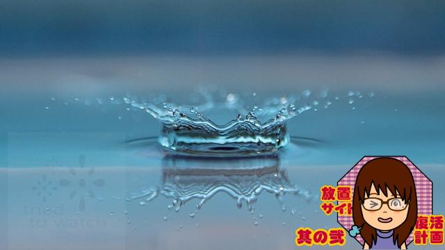 放置サイトの復活計画2 – テーマ-Raindropsが良い感じになっていた。