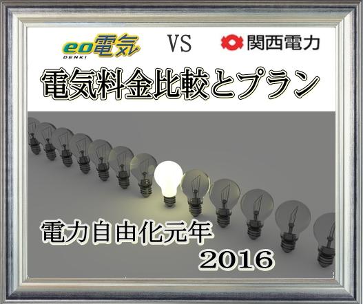 電力自由化元年💡eo電気vs関西電力💡電気料金 比較とプラン 二年目からはお得感0っ!?
